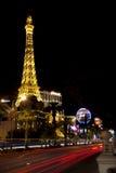 Vida nocturna a lo largo de la tira de Las Vegas Foto de archivo libre de regalías
