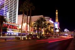 Vida nocturna a lo largo de la tira de Las Vegas Fotos de archivo libres de regalías