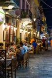 Vida noturna da cidade de Nafplio Foto de Stock