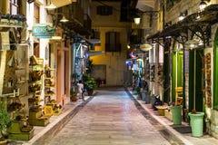 Vida noturna da cidade de Nafplio Fotos de Stock Royalty Free