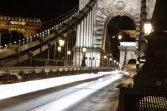 Vida noturno de Budapest. Foto de Stock Royalty Free