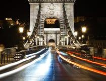 Vida noturno de Budapest. Imagem de Stock