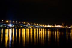 Vida noturno de Mainz Fotografia de Stock
