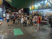 Vida noturno em Hong Kong foto de stock royalty free