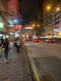 Vida noturno em Hong Kong fotografia de stock