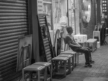Vida noturno em Hong Kong foto de stock