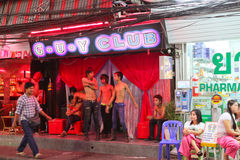 Vida noturno em Pattaya, Tailândia. Foto de Stock Royalty Free