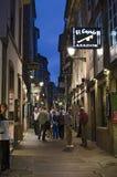 Vida noturno em Santiago Fotografia de Stock Royalty Free
