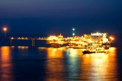 Vida noturno no mar imagens de stock