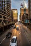 Vida ocupada de Chicago Foto de archivo libre de regalías