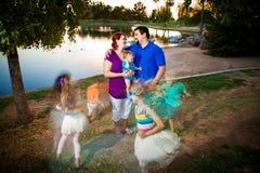 Vida passeada cara com crianças Foto de Stock