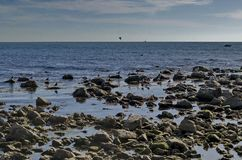 Vida pelo litoral no Mar Negro Nessebar, fotografia de stock royalty free
