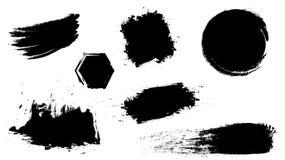 Vida pintada con el cepillo Manchas del Grunge para el diseño web libre illustration