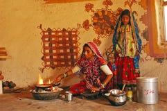 Vida popular en Gujarat Foto de archivo libre de regalías
