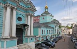 Vida que dá a igreja de trindade em Taganka, Moscou Fotografia de Stock