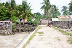 Vida quotidiana dos filipinos na cidade Filipinas de Cebu fotografia de stock royalty free