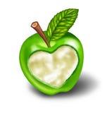 Vida sana con el alimento natural y el ejercicio ilustración del vector