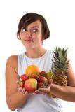 A vida saudável, come mais fruta Foto de Stock