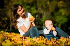 Vida saudável - comendo maçãs Fotografia de Stock