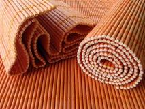 Vida saudável: Placemats de bambu Imagem de Stock Royalty Free