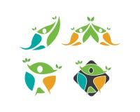 Vida saudável, vetor médico do molde do logotipo ilustração royalty free
