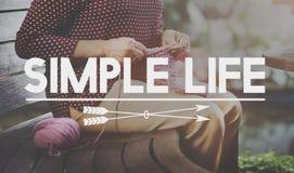 A vida simples aprecia o conceito natural consciente da meditação Foto de Stock