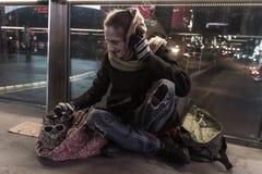 Vida sin hogar en Las Vegas Imagen de archivo