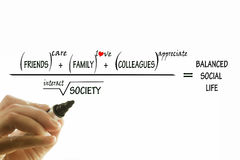Vida social equilibrada Imagen de archivo libre de regalías