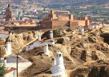 Vida subterráneo de Guadix, España Fotos de archivo libres de regalías