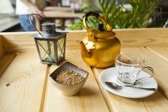 Vida temperada árabe do café ainda imagem de stock