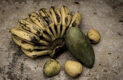 Vida todavía de la fruta tropical Foto de archivo libre de regalías