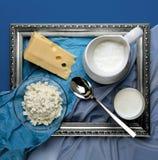 Vida todavía de los productos lácteos Fotos de archivo