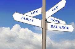 Vida, trabajo y balance Foto de archivo