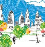 Vida urbana ilustração do vetor