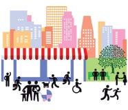 Vida urbana ilustração stock
