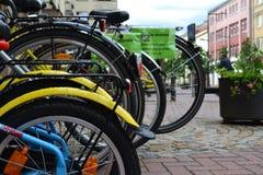 Vida urbana Bicicletas Imagem de Stock