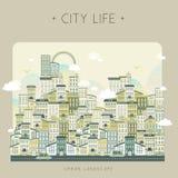 Vida urbana bonita Foto de Stock Royalty Free