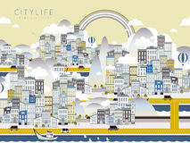 Vida urbana bonita Fotografia de Stock