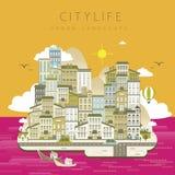 Vida urbana bonita Imagem de Stock