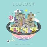 Vida urbana da ecologia Imagens de Stock