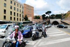 Vida urbana de Roma Vista da cidade de Roma o 31 de maio de 2014 Fotografia de Stock Royalty Free