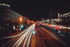 Vida urbana grande, Minsk, Bielorrússia fotografia de stock royalty free