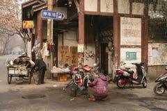 Vida urbana na rua velha, chengdu, porcelana imagem de stock royalty free