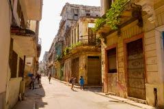 Vida velha de Havana City imagem de stock