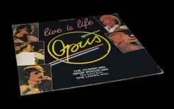 A vida velha do opus do vintage é álbum da vida foto de stock