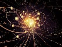 Vida virtual de la partícula de la onda Imagen de archivo libre de regalías