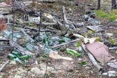 Vida Waste Lixo jogado para fora na natureza imagem de stock royalty free