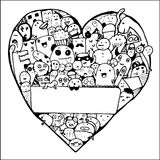 Vida y objeto en forma del corazón libre illustration