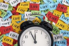 Vida y tiempo foto de archivo libre de regalías