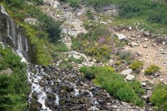 Vidae Falls at Crater Lake Royalty Free Stock Image